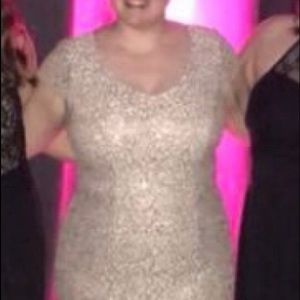 David's Bridal Dresses - Rose Gold Formal Dress